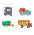 truck icon set cartoon style vector image vector image