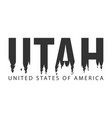 utah usa united states of america text or vector image vector image