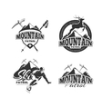 Vintage ski mountain patrol emblems labels vector image vector image