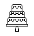 wedding cake icon on white background vector image