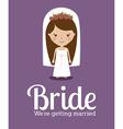 Wedding design over purple background vector image