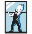 window washer worker vector image vector image