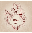 Wine list label vector image vector image