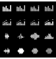 white music soundwave icon set vector image
