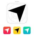 Direction arrow icon vector image