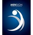 men sign vector image