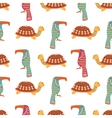African animals cute seamless pattern vector image vector image