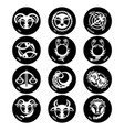 Astrology symbols zodiac signs isolated