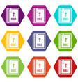bible icon set color hexahedron vector image vector image