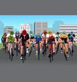 bike race vector image vector image