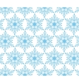 Blue snowflake Christmas seamless background vector image vector image