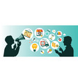 business communication vector image vector image