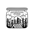 camping badge design crest logo with tent vector image vector image