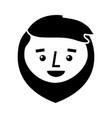cartoon happy face man beard character vector image