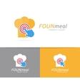 chef hat and click logo combination Menu vector image vector image