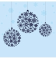 Christmas balls from snowflakes vector image vector image
