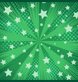 comic green abstract background vector image vector image