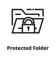 cripted folder line icon vector image
