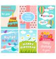 Cute birthday card set