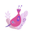 cute little bird with long beak symbol of spring vector image vector image