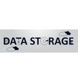 data storage word text data storage network flat vector image
