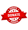 donate ribbon donate round red sign donate vector image vector image