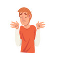 doubting young man male character facial emotions vector image vector image