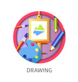drawing lessons at school creativity courses of vector image