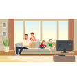 family at home mother care about father vector image