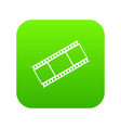 film with frames icon digital green vector image