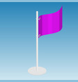 flag isometric vector image