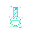 flask icon design vector image vector image