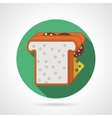 Flat color icon for sandwich vector image vector image