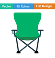 Flat design icon of Fishing folding chair vector image