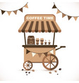 flat icon cart coffee isolated on vector image