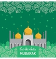 Flat of Mosque for Muslim vector image