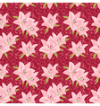Floral seamless background with lily vector image