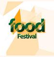food festival logo template design vector image