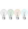 Four flourescent bulbs vector image vector image