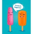 Funny ice creams poster vector image vector image
