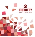 Geometry colorful background design vector image