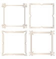 Golden geometric square frames design elements vector image