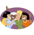 Group hug vector image vector image