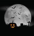 halloween moon background 0609 vector image vector image