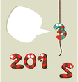 Happy New Year 2013 template vector image