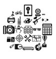 hi-tech icons set simple style vector image