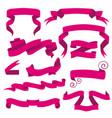 horizontal cartoon ribbon banners set vector image