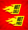 hot sale and hot price labels vector image vector image