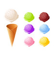 ice cream set of summer vector image vector image