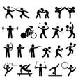 indoor sport game athletic set icon symbol sign vector image